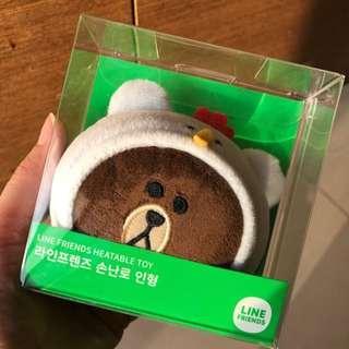 🚚 韓國帶回LINE熊大暖手寶