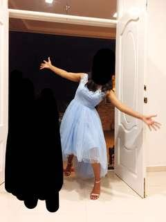 ASOS fairy evening gown asymmetrical sky blue lace dress