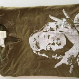 Army Green Marilyn Monroe Vintage T-shirt
