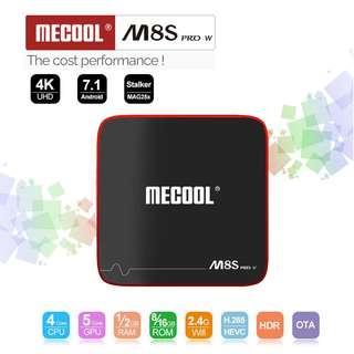 M8S PRO W S905W Smart Wifi 2.4G 4K HD Set Top Box 2G/16G TV BOX Voice Control