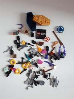 Lego assorted minifigures accessories bundle