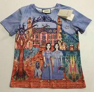 Gucci Ins Blue Printed Shirt