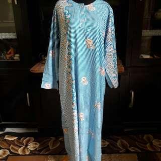 Sale..!! Longdress Biru Deffect Benang