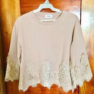Beaded formal blouse