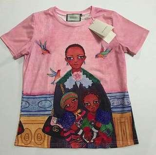Gucci Ins Pink Printed Dress