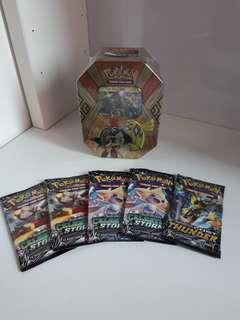 Pokemon card tcg sealed products tins and booster packs