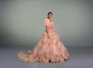 Filipiniana Filipiñana ball gown with trail