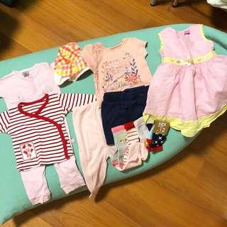 Bundle of size 0-6 mos Baby Girl Clothes