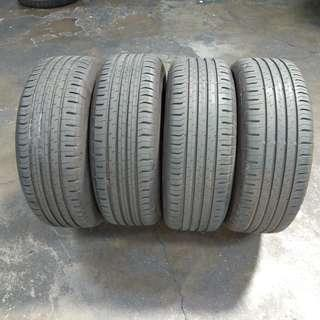 4pcs CONTINENTAL ECOCONTACT 5 TYRE 205 60 16