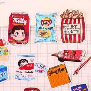 🚚 Snacks and Food Stickers Pack #single11