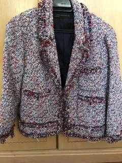 Zara short tweed jacket