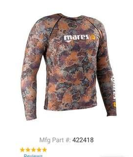 Mares Camouflage Lycra Long Sleeve Mens Rash Guard and Pants Set