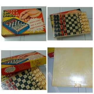Vintage Pocket Chess & Checkers