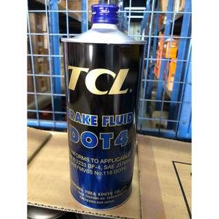TCL Brake Fluid Dot 4, 1 Liter, Made In Japan
