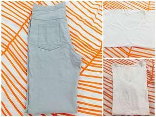 Bundle: Pants and White Shirts