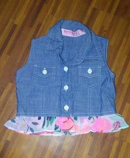 Soft denim vest for kids