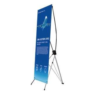 600mm x 1600mm PVC Canvas X-Stand Banner