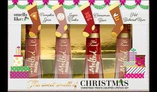 Too Faced The Sweet Smell of Christmas Mini Melted Liquid Lipstick Set