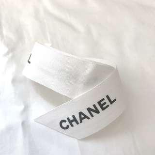 CHANEL off-white color gift ribbon 米白色棉質絲帶