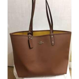 Authentic Coach Reversible Tote Bag with pouch
