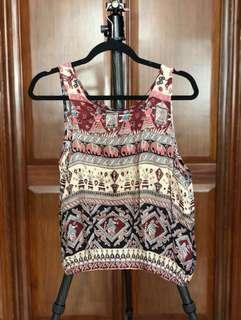 Forever 21 tribal pattened sleeveless top