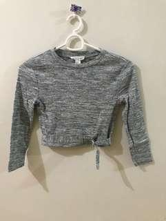 Forever 21 long sleeved crop top