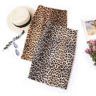 Retro Leopard High Waist Skirt