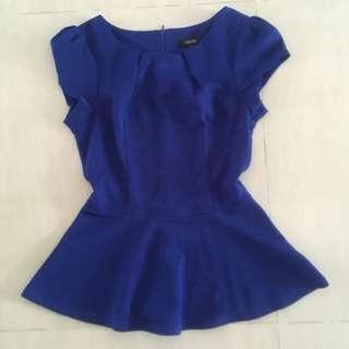 EUC Ladies Top in Royal Blue