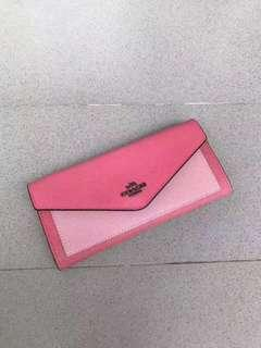 Ready stock: 11.11 Special price Coach pink lady envelope wallet