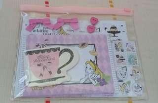 日本迪士尼Alice in wonderland letterset
