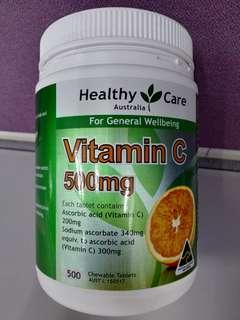 🚚 Vitamin C 500mg (Chewable 500 Tablets)