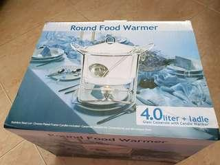 Party Round Glass Food Warmer