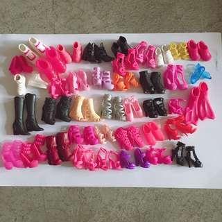 Barbie shoes set
