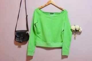 Preloved - Wet Seal Green Pullover