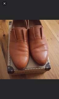 Brown Leather Shoes Size 38