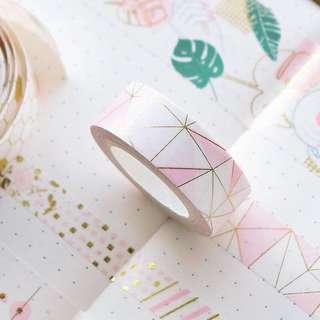🚚 [po] pink foil washi tape