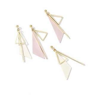 🚚 [po] geometric irregular triangle earring