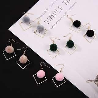 [po] korean ball earrings