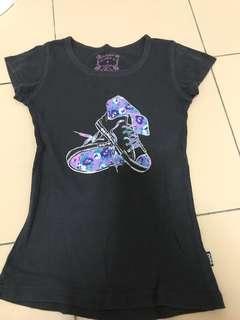 Black sneaker shirt