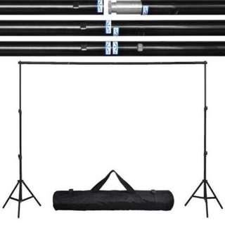 Air Cushion Studio Backdrop Stand Kit + Optional Add on for Continuous Lighting Kit & Muslin Cloth