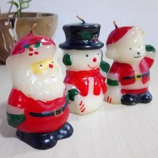 New handmade Santa Claus Snowman Xmas Bear Christmas wax candles