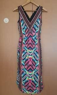 Warehouse Printed Mide Dress