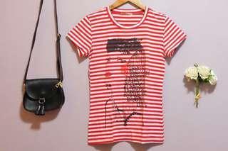Preloved - Red Striped Top