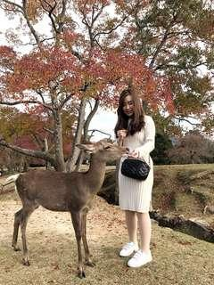 Knitted long-sleeved dress