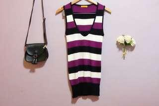 Preloved - Shopaholic Striped Sleeveless