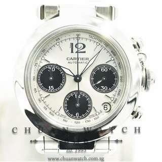 Pre-Owned Cartier Pasha C Chronograph Automatic 'Panda' 36mm 2412 - Discontinued