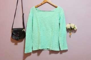 Preloved - Light Green Pullover