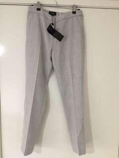 Grey Oxford Suit Trousers Pants