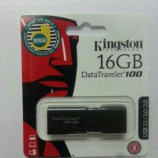 全新 包郵 Kingston Data Traveler® 100 G3 (DT100G3) 16GB USB 3.0 隨身碟(保證原廠 香港聯強保養)