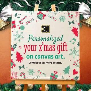 🚚 Personalized X'mas Gift on Canvas Art